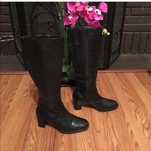 Karen Scott • 100% Leather • Black• Tall • Boots